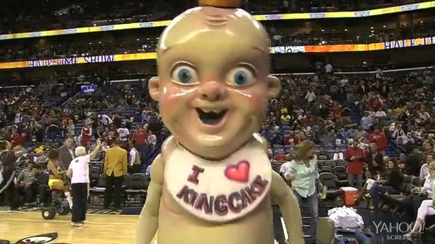 King Cake Mardi Gras Baby Scary